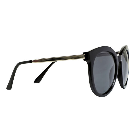 Oversized Cats Eye Sunglasses  BLACK  hi-res