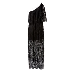 One Shoulder Lace Maxi  BLACK  hi-res