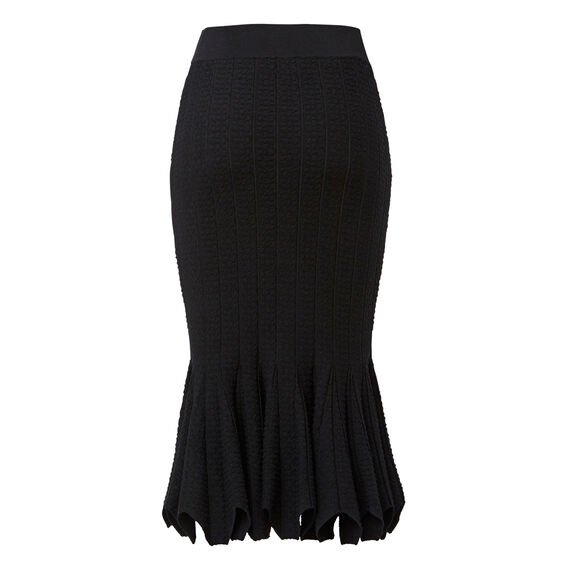 Crepe Edge Tube Skirt  BLACK  hi-res