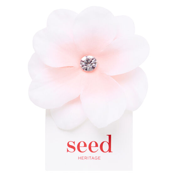 Centered Flower Clip  ICE PINK  hi-res