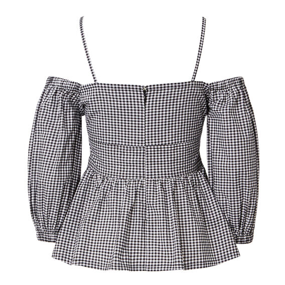 Gingham Cold Shoulder Top  GINGHAM  hi-res