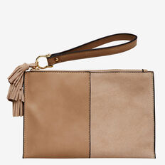Spliced Tassel Pouch  TAUPE  hi-res