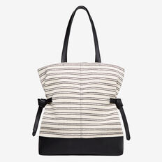 Harriet Spliced Tote  BLACK  hi-res