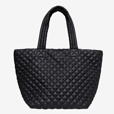Kayla Quilted Tote  BLACK  hi-res