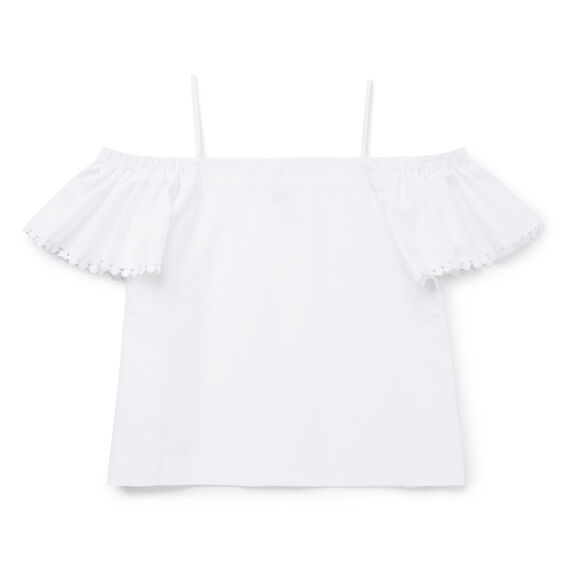 Petal Sleeve Top  WHITE  hi-res