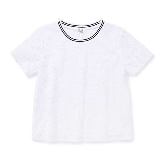 Broderie Top  WHITE  hi-res