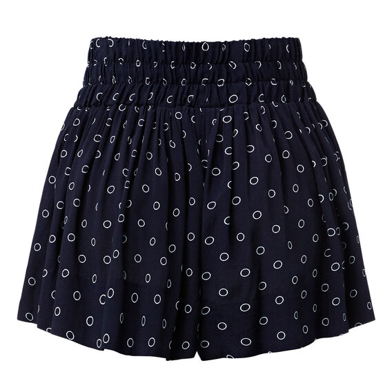 Printed Culotte Short  CIRCLE PRINT  hi-res