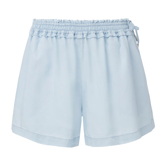 Shirred Tie Short  ICE BLUE CHAMBRAY  hi-res