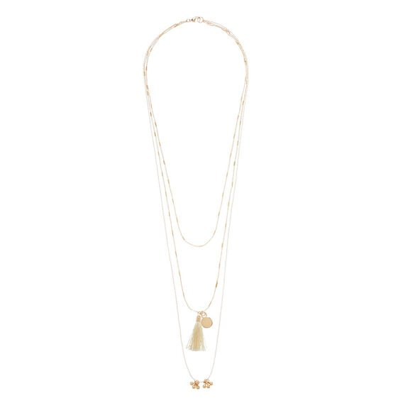 Tassel Charm Necklace  GOLD  hi-res