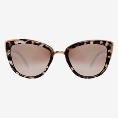 Tort Cats Eye Sunglasses  ROSE GOLD  hi-res