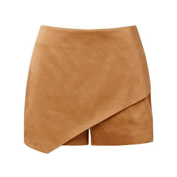 Wrap Satin Skort  BRICK  hi-res