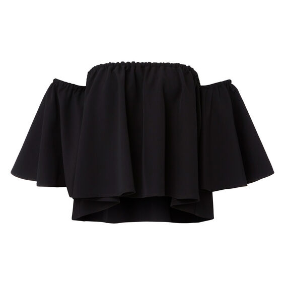 Layered Frill Party Top  BLACK  hi-res