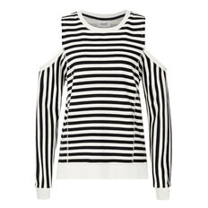Stripey Shoulders Out Sweat  STRIPE  hi-res