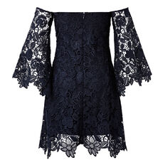 Strapless Lace Dress  INK  hi-res