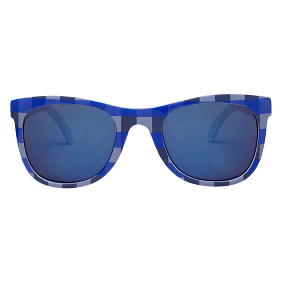 Blue Check Sunglasses  BLUE  hi-res