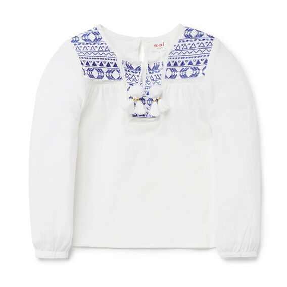 Embroidered Blouse  CANVAS  hi-res