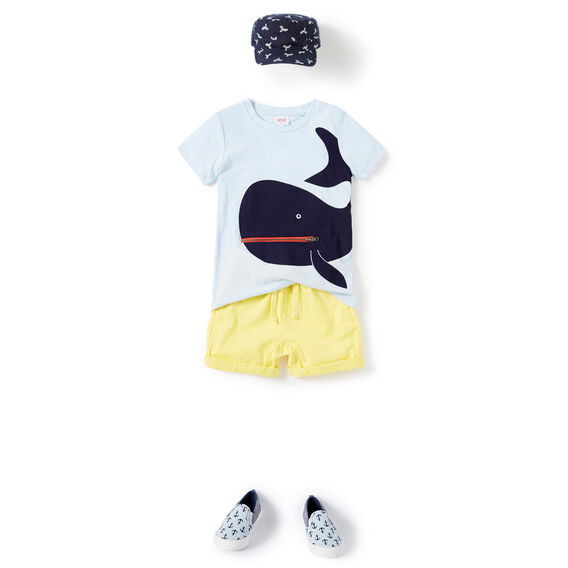 Novelty Whale Tee  PACIFIC BLUE  hi-res