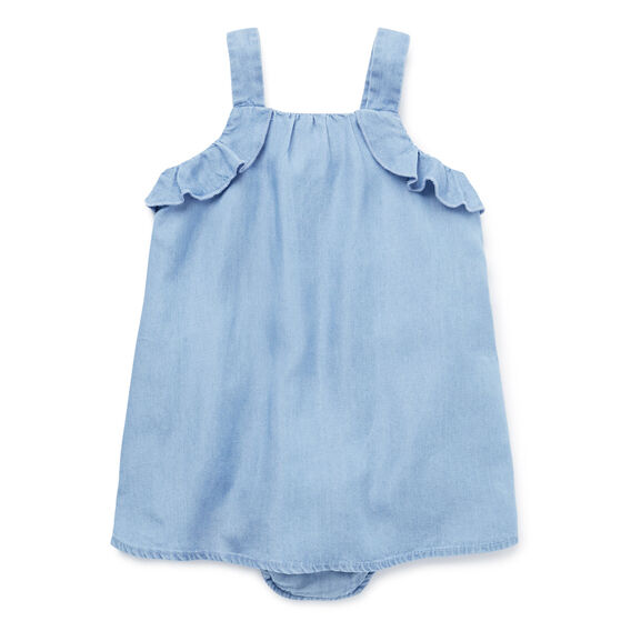Chambray Layered Romper  POWDER BLUE  hi-res