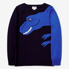 Dino Intarsia Knit  MIDNIGHT BLUE  hi-res