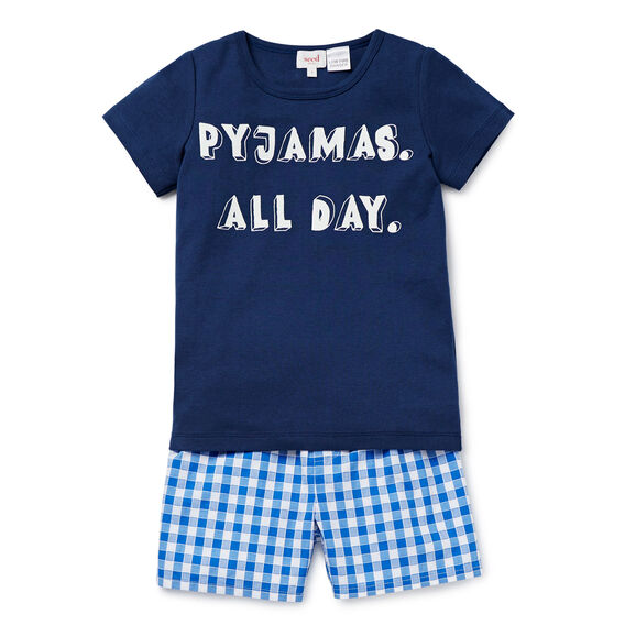 Pyjamas All Day PJ's  PETROL BLUE  hi-res