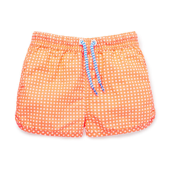 Gingham Boardie  SUPER ORANGE  hi-res
