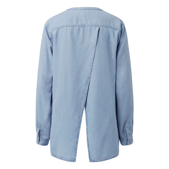 Splice Back Shirt  VINTAGE CHAMBRAY  hi-res