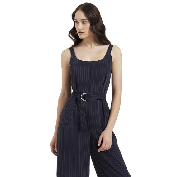 Pinstripe Jumpsuit  INK BLUE  hi-res