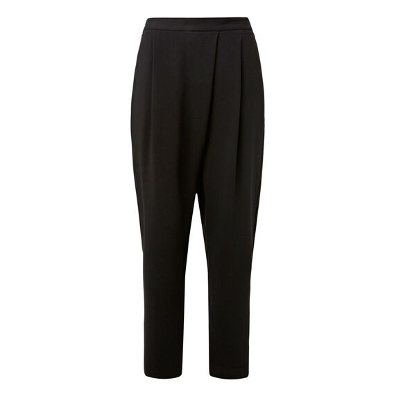 Tailored Wrap Pant  BLACK  hi-res
