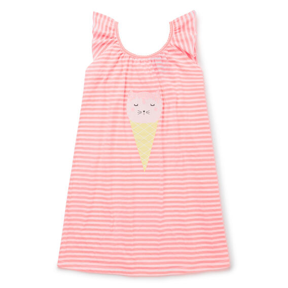 Stripe Ice-Cream Nightie  ROSE PINK  hi-res
