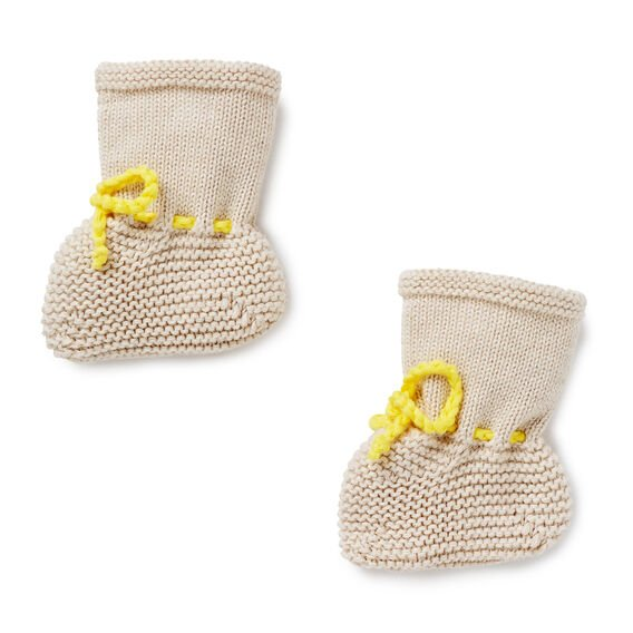 Simple Knit Bootie  OAT MARLE  hi-res