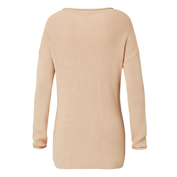Collection Crepe Buckle Front Sweater  TAN  hi-res