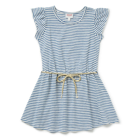 Stripe Rope Tie Dress  BLUEBELL  hi-res