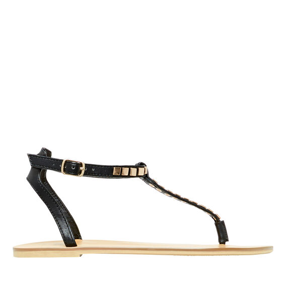 T-Bar Stud Sandal  BLACK  hi-res