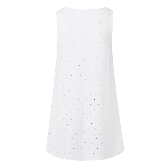 Starry Silver Tank  WHITE  hi-res