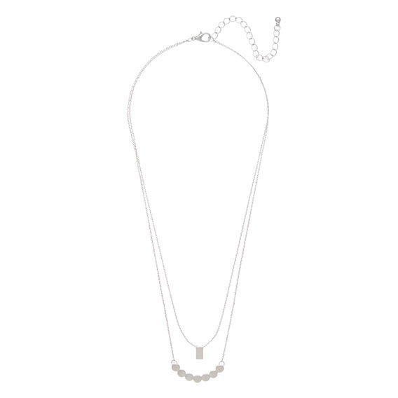 Layered Charm Necklace  SILVER  hi-res