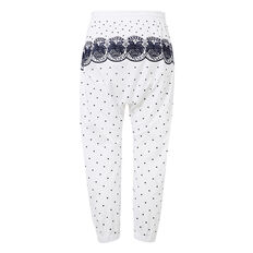 Embroidered Pant  WHITE  hi-res