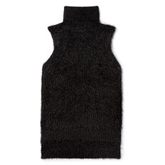Fluffy Sleeveless Knit  BLACK  hi-res