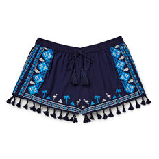Embroidered Short  MIDNIGHT INDIGO  hi-res