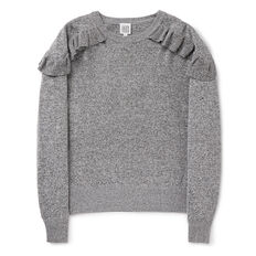 Frill Sweater  STORMY MIX MARLE  hi-res