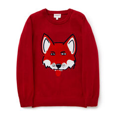 Fox Crew Knit  BERRY  hi-res