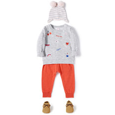 Embroidered Windcheater  SPECKLE MARLE  hi-res