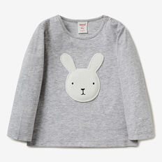 Bunny Applique Tee  CLOUD  hi-res