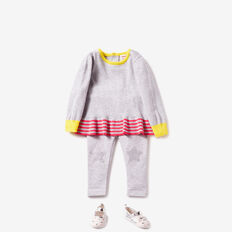 Peplum Colour Block Sweater  CLOUD  hi-res