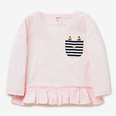Kitty Pocket Tee  SODA PINK  hi-res