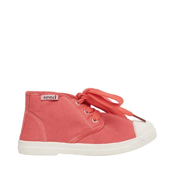 Canvas Bootie  RED  hi-res