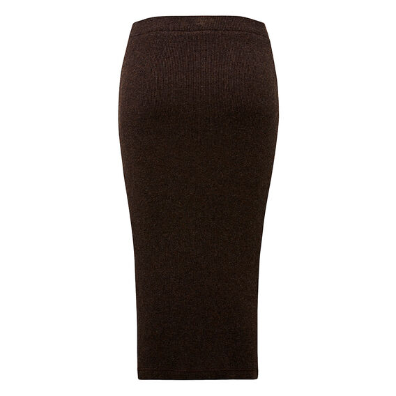 Knitted Chocolate Skirt  CHOCOLATE MARLE  hi-res
