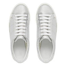 Georgina Lace Up Sneaker  SILVER TEXTURE  hi-res