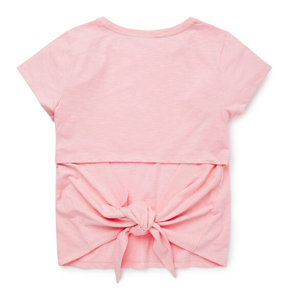 'Tie-Back' Tee  SHELL PINK  hi-res
