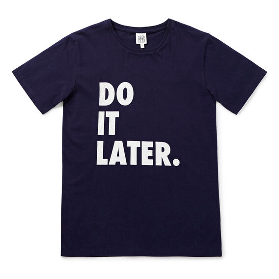 Do It Later Tee  MIDNIGHT BLUE  hi-res