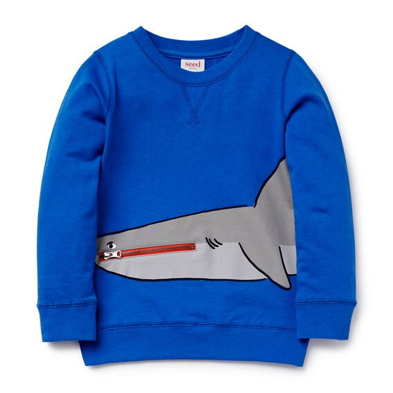 Novelty Shark Sweater  BRIGHT COBALT  hi-res